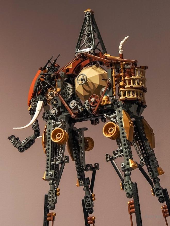 Salvador Dalí's Famous Elephants Look Even Trippier in Lego Form