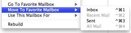 Quickly Move Messages In Lion's Apple Mail With a Command + Control + #
