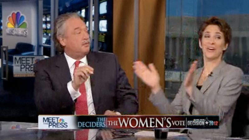 Watch Rachel Maddow Own GOP Strategist Alex Castellanos After He Claims that Women Don't Actually Make Less Than Men