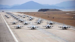 You have never seen so many F-16s ready for battle in your life