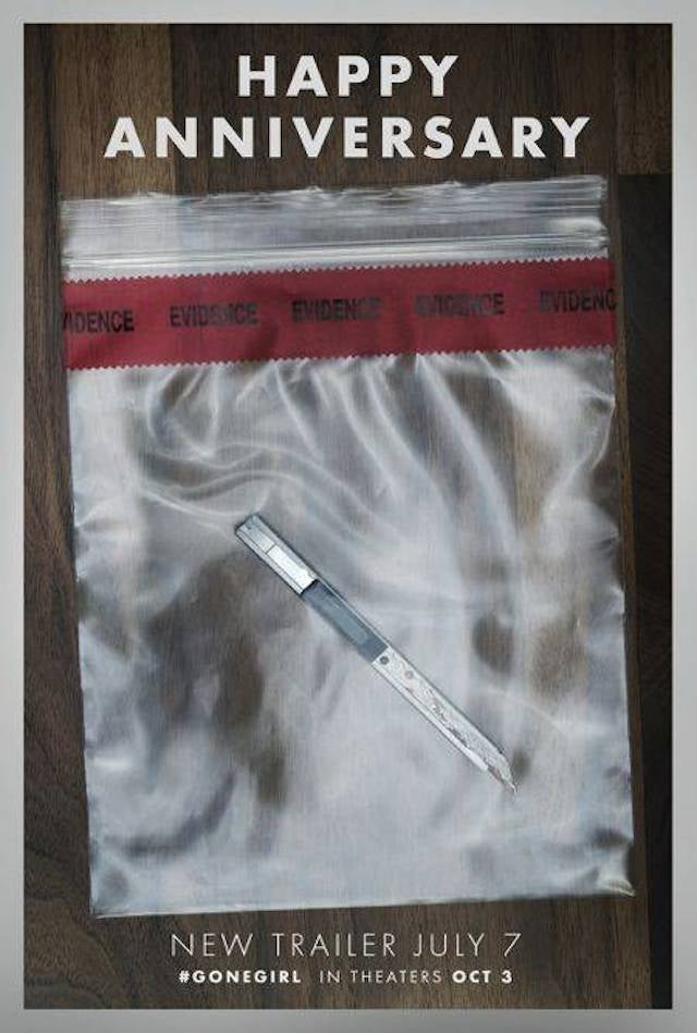 Check Out These Eerie New Gone Girl Evidence Bag Posters