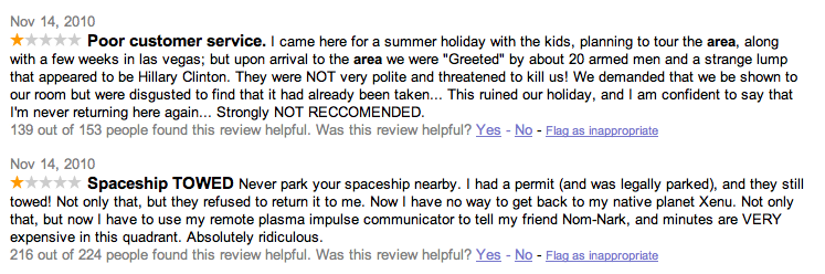 Area 51 Receives Poor Reviews From Google Users