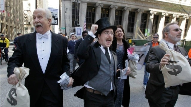 Wall Streeters in Danger of Falling Into the Bottom 99%