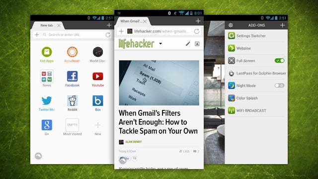 Dolphin Browser Updates with a New Interface, Is Faster Than Ever