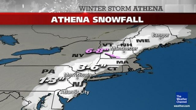 The Birth of Athena: What to Expect from Today's Nor'easter [UPDATE]