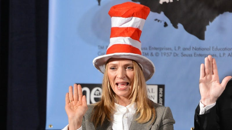 Uma Thurman Swaggerjacks Dr. Seuss