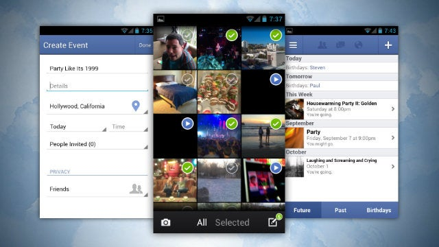 Facebook for Android Updates with Event Creation, Better Photo Uploading