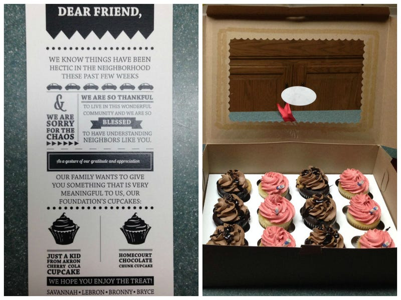 LeBron Sent Cupcakes To His Neighbors After The Media Crush At His House