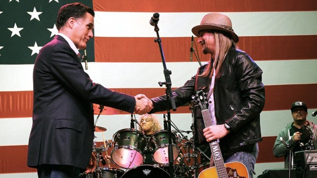 Kid Rock Endorses Mitt Romney With Awkward Michigan Rally Concert