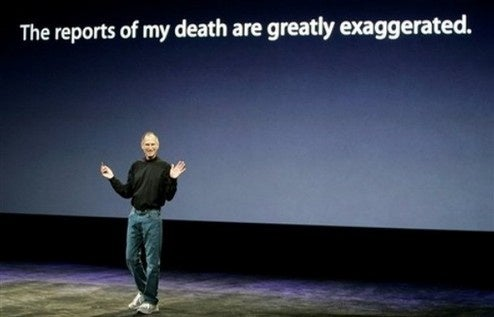Hackers Post Faked Report of Steve Jobs's Death