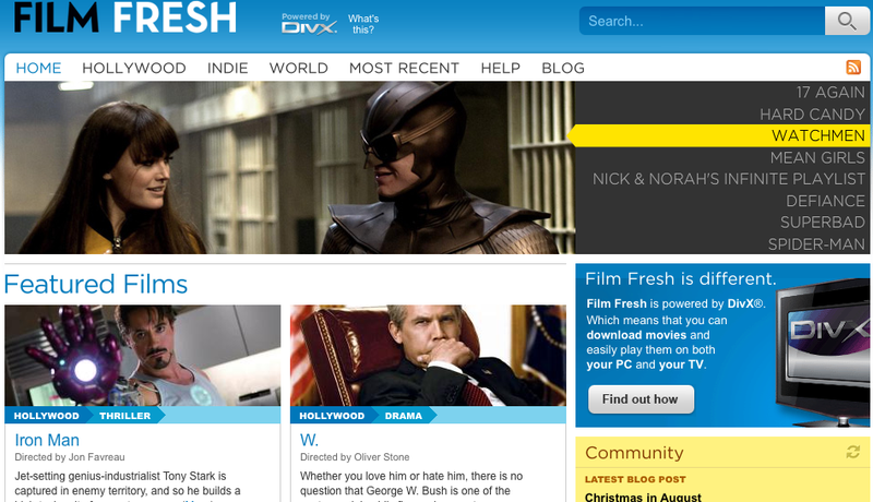 Film Fresh Lets You Legitimately Download Popular Movies in DivX