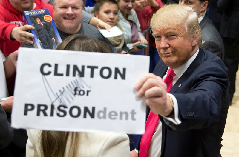 """Trump Fundraising Email Asks Voters to """"Indict"""" Clinton (Give Him Money)"""