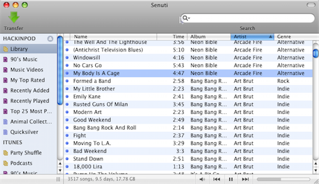 Transfer Songs from Your iPod to Any Mac with Senuti
