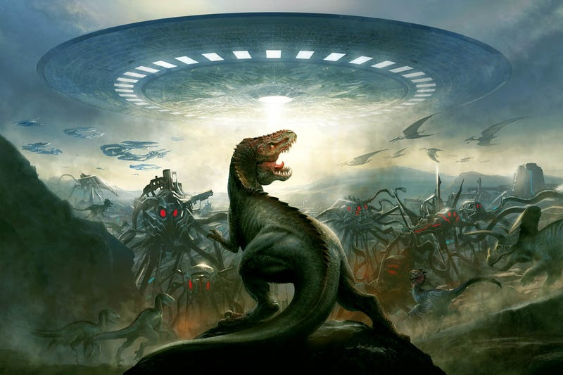 Move Over, Cowboys & Aliens: Grant Morrison is making a Dinosaurs Vs. Aliens movie