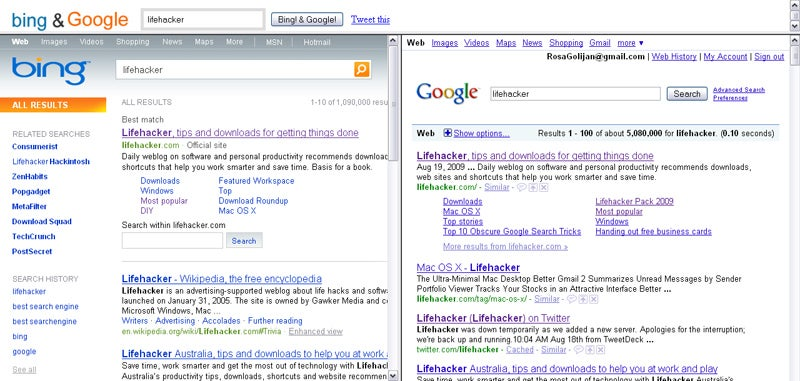 Decide Which Search Engine You Really Prefer with Bing-Google Mashups