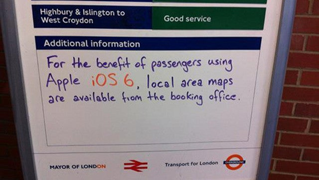 London Underground Is Happy to Lend iOS 6 Users a Map