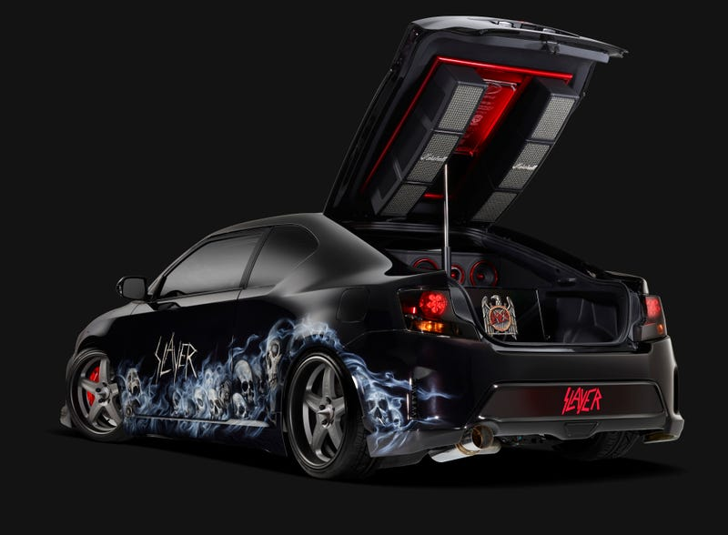 This Sick SlayerThemed Scion tC Is Easily The Metalest Scion Ever