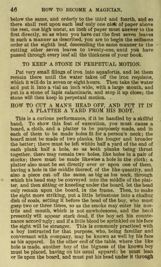 The Secret to Becoming a Magician (in 1882)