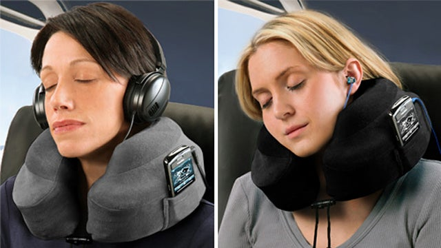 Travel Pillows With Inbuilt MP3 Player Pockets Will De-Tangle and Chill You Out
