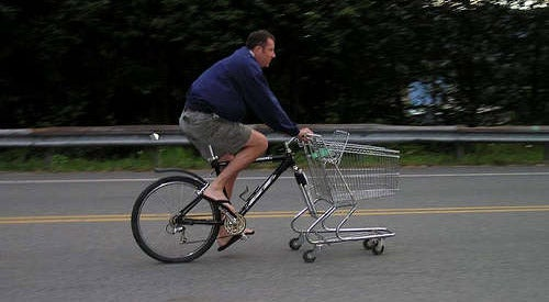How to Make a Shopping Cart Bike