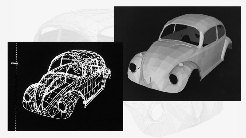The First Real Object Ever 3D Scanned And Rendered Was A VW Beetle