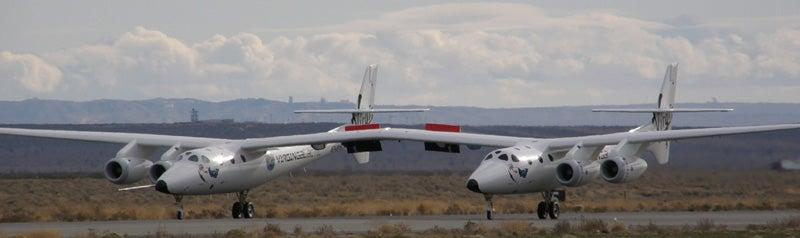 Virgin Galactic's WhiteKnightTwo Performing Runway Tests
