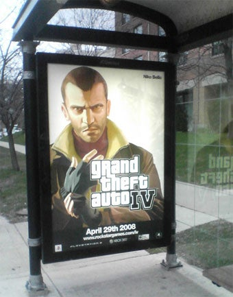 GTA IV Bus Ads To Terrorize Chicago Riders Once Again