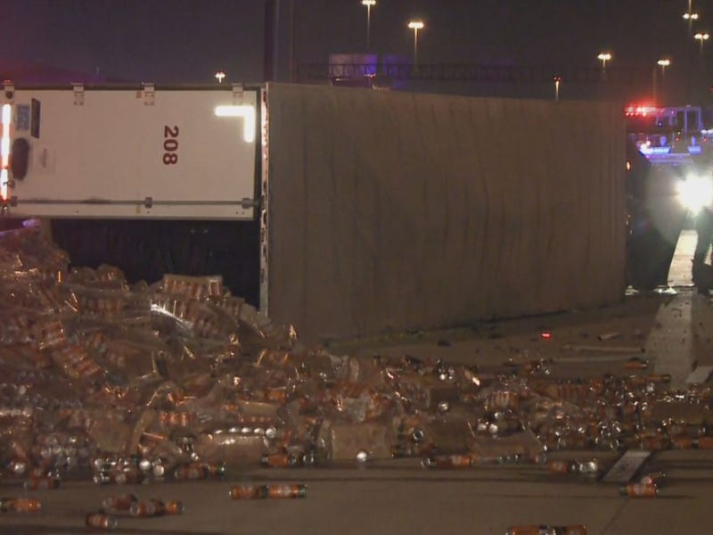 Texas Highway Shut Down for Hours Following Gigantic Beer Can Spill