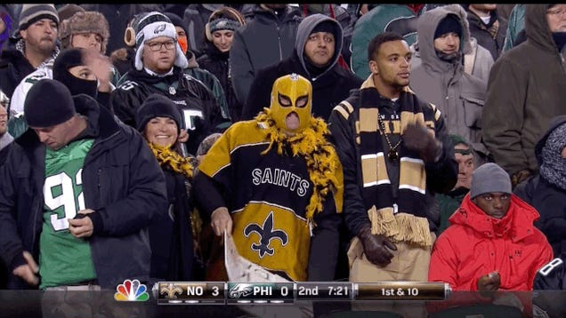 Saints Fan Looks Like Dying Jabba The Hutt, Is Disgusting