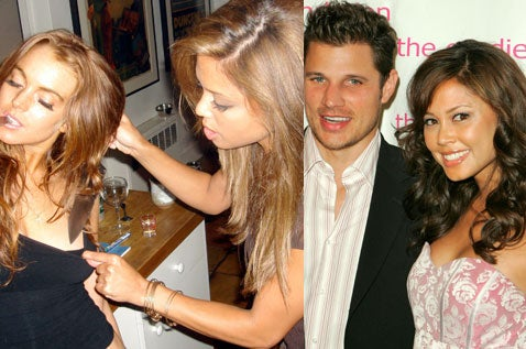 Vanessa Minnillo Is The Tit Grabber In Lindsay Lohan Slasher Pic