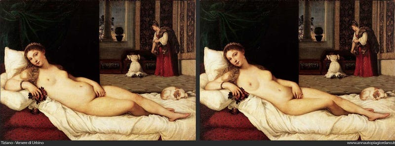 Artist photoshops the curves off of art history's goddesses