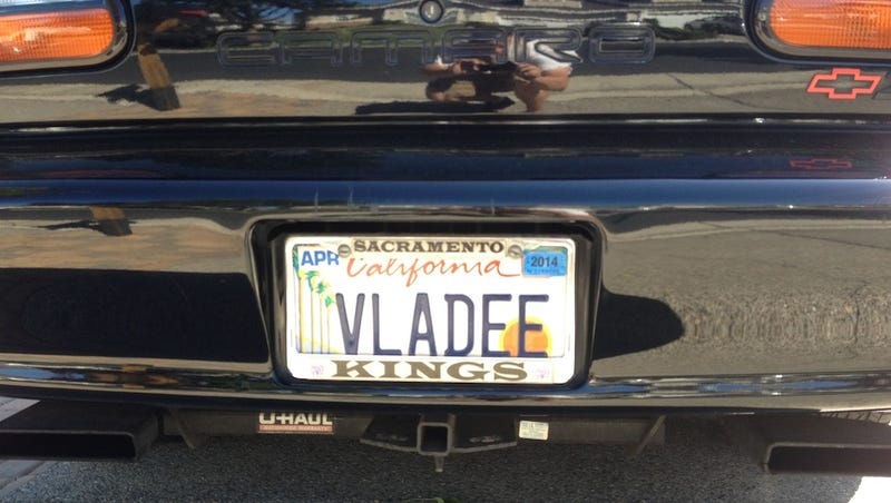 Old Lady Drives A Vlade Divac-Autographed Camaro