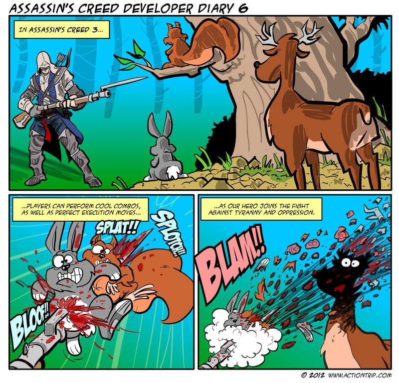 Sunday Comics: Assassin's Critters