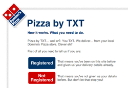 Domino's Launches Pizza by TXT in UK