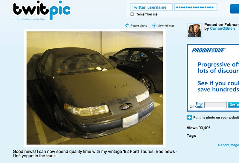Conan O'Brien Tweets, Still Loves His Taurus SHO