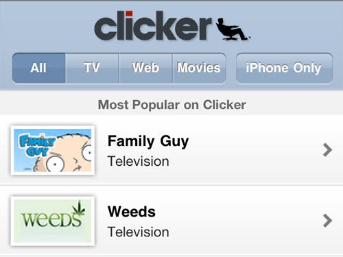 Clicker Is a One-Stop Mobile Entertainment Scheduler and Viewer