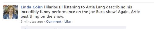 Well, Artie Lange Has One Fan In The Sports Media That Still Loves Him
