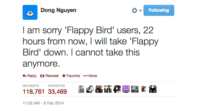 Flappy Bird's Creator Says He's Taking the Game Down
