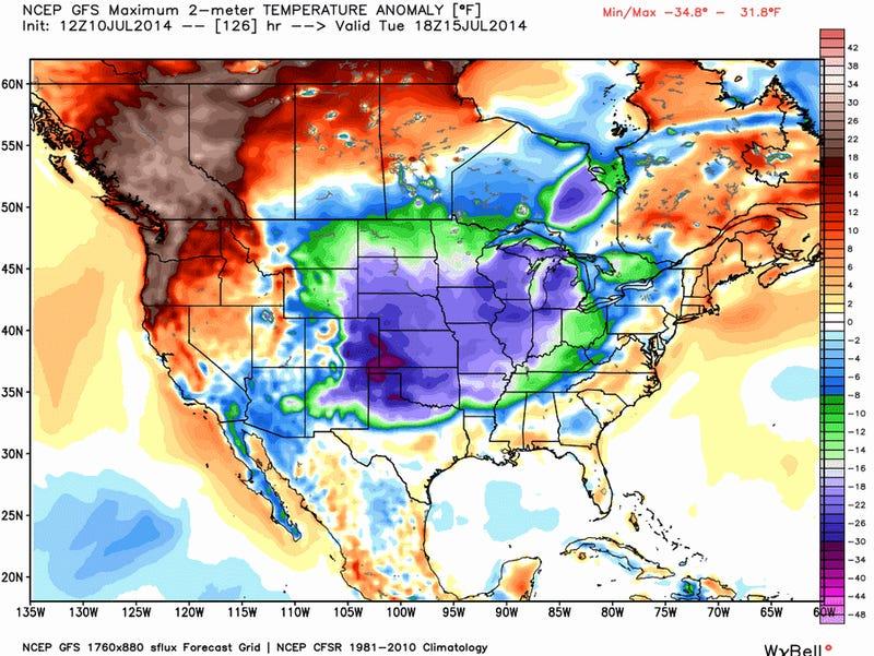 SummerPolarVortexmageddon II Will Bring Cooler Temperatures Next Week
