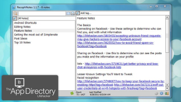 The Lifehacker App Directory: Windows