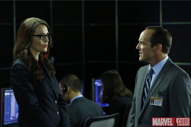 First Looks at Captain America's Agent 13 and SHIELD's Victoria Hand!