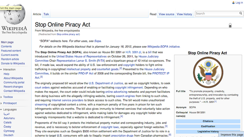 U.S. House Just Put the SOPA Bill on Hold (Updated)