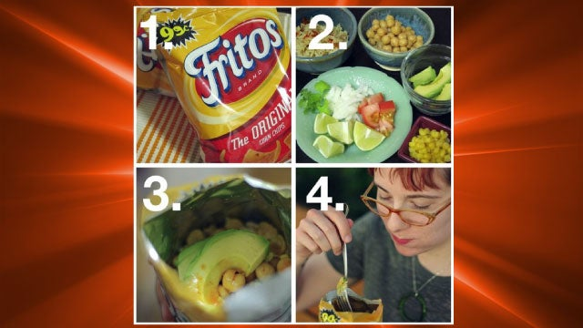 "Make a ""Walking Taco"" in a Bag of Fritos for an Easy, Portable Snack"