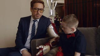 Robert Downey Jr. delivers real <i>Iron Man</i> bionic arm to armless kid