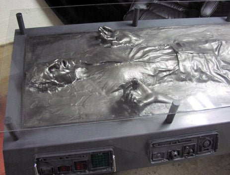 Exclusive Han Solo Carbonite Desk Info and Gallery