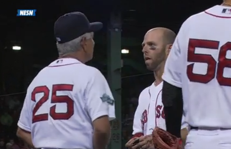 You Can Actually Pinpoint The Second When Dustin Pedroia Learns His Wife Is In Labor