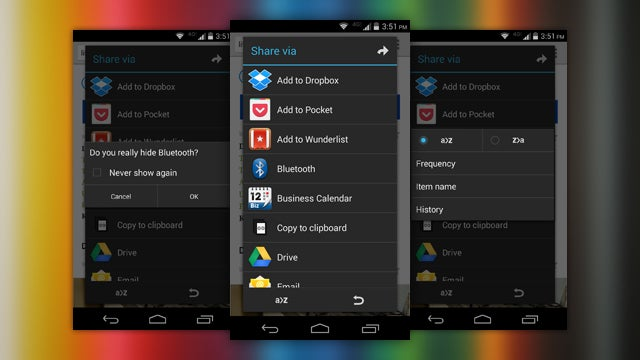"AppChooser Cleans and Customizes Android's ""Share"" Menu"