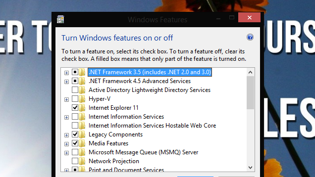 This List Details All the Windows Features You Can Safely Disable