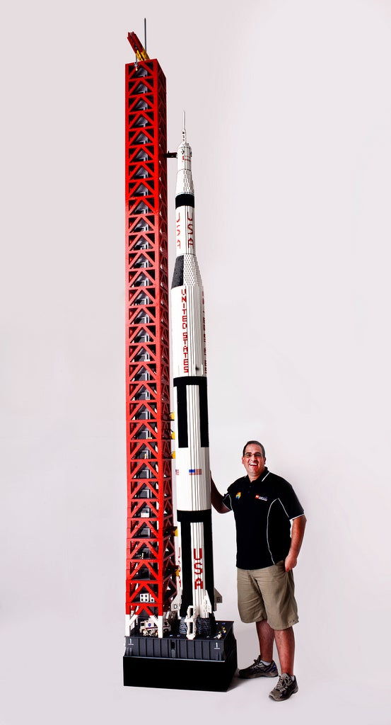 Man builds 19-foot-tall model of Apollo 11 out of 120,000 LEGO bricks