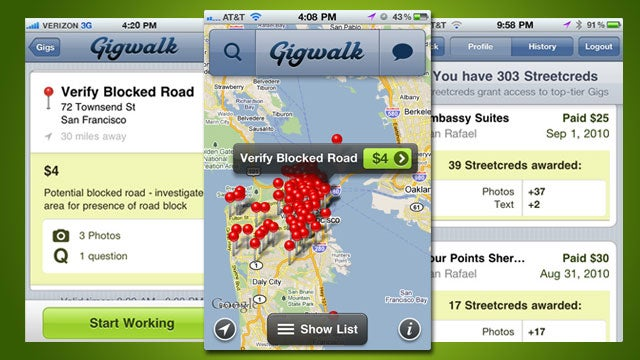 Make Some Extra Cash from Your iPhone with Gigwalk